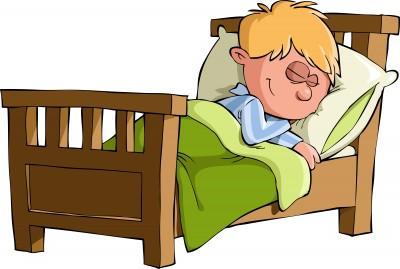 je dors dans mon lit